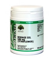 Borvirágolaj (Borage-Starflower Oil) 500mg 100 kapszula (G&G)